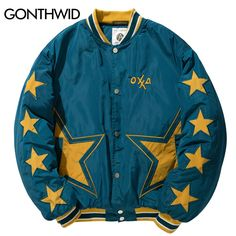 GONTHWID Star Embroidery Color Block Thick Baseball Bomber Jackets Men's 2017 Winter Hip Hop Casual Streetwear Fashion Outwear-in Jackets from Men's Clothing & Accessories on Aliexpress.com | Alibaba Group