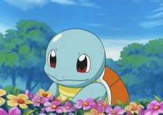Oh my gosh, Squirtle is one of my favorite pokemon ever!! :D And I love flowers too, so that makes this gif all the more perfect! :3