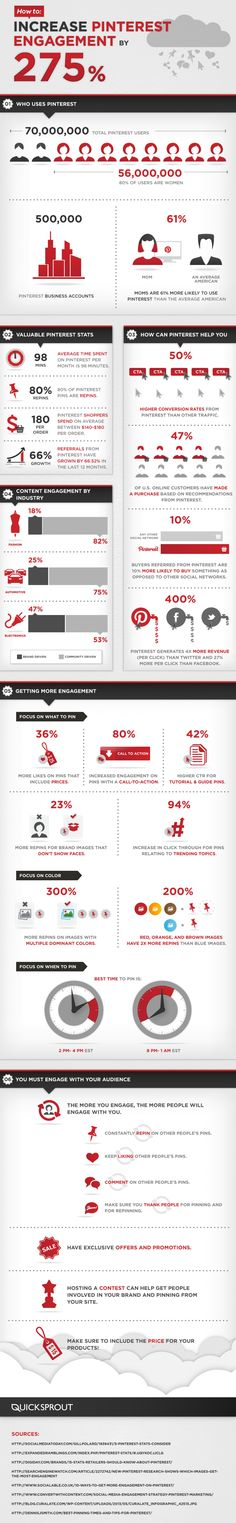 How to Increase #Pinterest Engagement by 275% Infographic