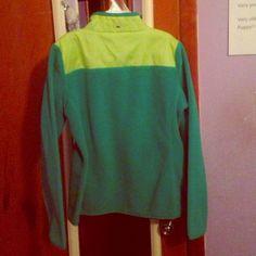 Vineyard Vines Green Quarter Zip Fleece Jacket Neon Green up top and Regular green on the rest Vineyard Vines Jackets & Coats