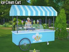 Sims 4 CC's - The Best: Ice Cream Cart by Around the Sims