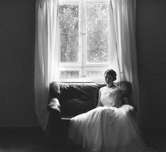 Bride on the couch