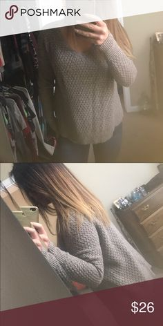 Brown AE sweater Worn twice brown sweater. Size medium from American eagle American Eagle Outfitters Sweaters V-Necks