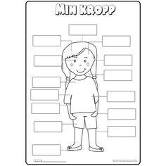 𝓂𝒾𝓃 𝓀𝓇𝑜𝓅𝓅 Ett arbetsmaterial runt kroppen. ▪️Låt eleverna skriva in rätt del i de tomma rutorna. ▪️ Låt eleverna skriva allt de kommer på…