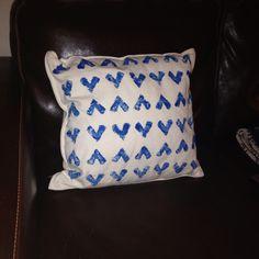 Potato print cushion