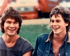 That time he and Patrick Swayze got matching haircuts and laughed about it. | 27 Flawless And Perfect Photos Of Young Rob Lowe