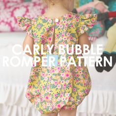 Sewing For Kids Carly Bubble Romper - Childrens Sewing Patterns, Baby Clothes Patterns, Baby Patterns, Sewing Projects For Kids, Sewing For Kids, Sewing Ideas, Baby Romper Pattern Free, Diy Bebe, Sewing Kids Clothes