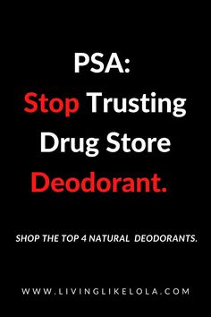 The dangers of drugstore deodorant brands are real. Aluminum free deodorant, safe deodorant, clean ingredient deodorant. Natural deodorant that works