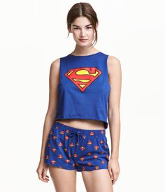 Rachel's Superman Pyjamas that Lou bought her - Louis's back home Lazy Day Outfits, Cute Casual Outfits, Cute Outfits For Kids, Outfits For Teens, Cute Pijamas, Pijamas Women, Pajama Outfits, Pajama Shorts, Fashion Kids