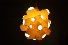 Good wood - Spore Lamps, by Andrew Kudless Digital Fabrication, Lamp Design, Bellisima, Lamp Light, Home Interior Design, Objects, Ceiling Lights, Lighting, Wood