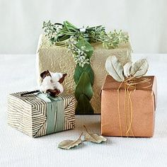 Here are some great ideas for both gift tags and wrapped holiday boxes. There are a multitude of styles from shabby chic to news print wrapping paper to brown paper wrap. Gift tags range from intricate to easy to make. Read on! →