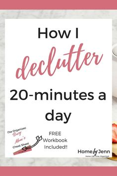 In this post, Jenn shows you exactly how her 20-minute decluttering process works. Declutter your home and become more organized by only spending 20-minutes a day at this. There's a free decluttering checklist too to help you become more organized.
