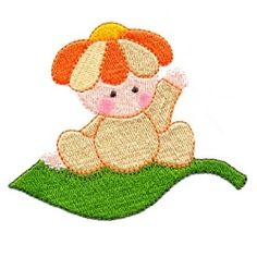 Baby Leaf Fairy - 2 Sizes! | Baby | Machine Embroidery Designs | SWAKembroidery.com Too Cute Embroidery