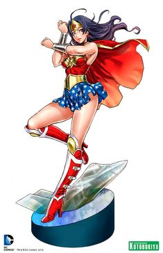 KOTOBUKIYA ARMORED WONDER WOMAN BISHOUJO ILLUSTRATION UNVEILED