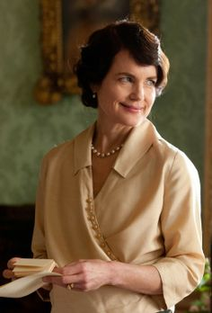 Lady Cora | Downton Abbey…My note:  I've loved Elizabeth McGovern since Ordinary People.  ASB