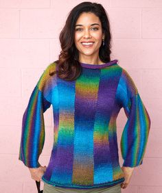 Bargello Knit Sweater