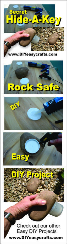 How to make a Secret Hide-a-Key rock safe. This quick easy project allows you to store a hidden key in plan sight.