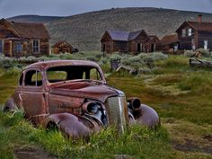 """""""Bodie Ghost Car"""" - by Dave Storym www. Love the color. Rat Rods, Mother Nature, Beautiful Homes, Fine Art America, Antique Cars, California, Spaces, Group, Adventure"""