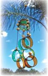 Recycled Wine Bottle Wind Chimes