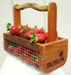 Unique Fruit & Vegetable Garden Harvesting Basket Handcrafted in NC from Old Tobacco Sticks, Small Size. $28.00, via Etsy.