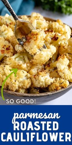 Parmesan Roasted Cauliflower, Cauliflower Recipes, Vegetable Recipes, Healthy Dinner Recipes, Diet Recipes, Vegetarian Recipes, Cooking Recipes, Keto Side Dishes, Vegetable Side Dishes