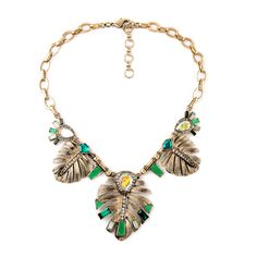 Classic Statement Jewelry Alloy Leaves Necklace Pendant Factory Wholesale