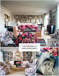 Last week the online design world was abuzz over photos of Lee Radziwill's Paris apartment that were recently featured in T Magazine . As the younger sister of Jackie Kennedy, a royal princess, prominent socialite, style icon and friend to luminaries like Truman Capote and Andy Warhol, Radziwill, 79, is a truly fascinating figure. Her inspiring Parisian apartment where she lives part-time