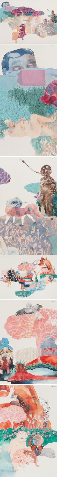 watercolor worlds by sara khan <3