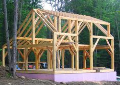 Energy Star Timber Frame Home 12 Source by kirk_simmons. Cabin Plans, Shed Plans, Cabins In The Woods, House In The Woods, Building Plans, Building A House, Building Homes, Timber Frame Cabin, Timber Frames