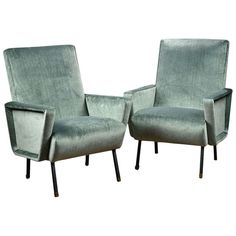 Antique Pair of Italian Mid-Century Modern Chairs | From a unique collection of antique and modern chairs at http://www.1stdibs.com/furniture/seating/chairs/