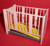 VINTAGE DOLLS HOUSE TRIANG SPOT-ON COT
