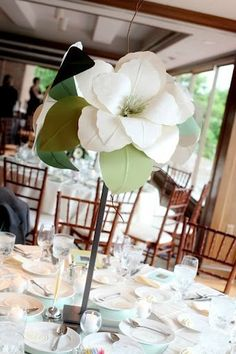 Paper flower centerpieces| 36 inch inch paper flowers on stems ...