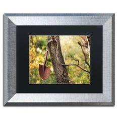 "Trademark Global 'Shovel' by Jason Shaffer Framed Photographic Print Matte Color: Black, Size: 16"" H x 20"" W x 0.5"" D"