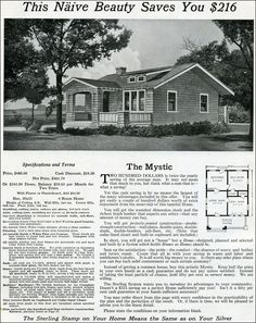1916 Sterling System Homes - International Mill & Timber - Shingle cottage - Tiny house - Mystic