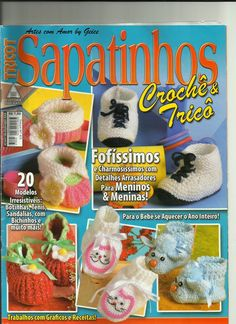 Artes com amor by Geice: Revista trico crocê sapatinhos