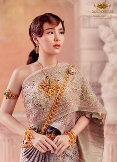 Traditional Thai wedding dresses that will make you stand out • Above Diamond® Traditional Thai Clothing, Traditional Dresses Designs, Traditional Outfits, Thai Wedding Dress, Wedding Dresses, Thailand Fashion, Bad Girl Outfits, Thai Dress, Indian Bridal Wear