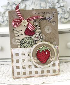 PTI - Melissa Phillips. Cut down Berry Basket die for card