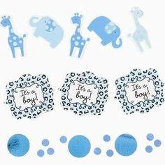 blue safari baby shower decorations - Google Search