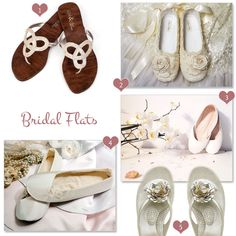Stylish bridal flats and the ones with the roses are my favorite..