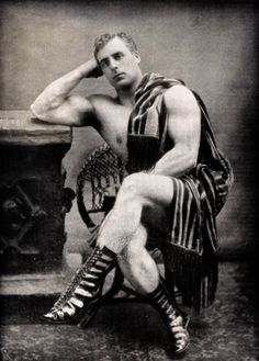 "William Bankier, author of Ideal Physical Culture as ""Apollo: The Scottish Hercules,"" c. 1900.  Submitted by sophisticated-tourettes"