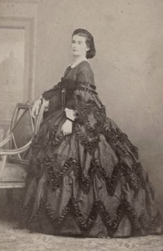 Queen Maria Sofia of the Two Sicilies, neé Duchess on Bavaria. 1860s