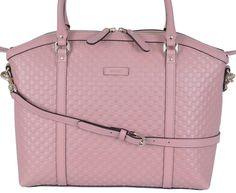 NEW Gucci 449657 Soft Pink Leather Micro GG Guccissima Crossbody Dome Purse #Gucci #MessengerCrossBody
