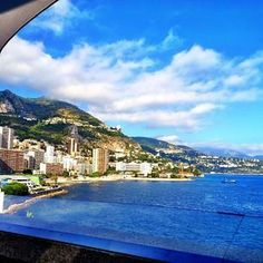 Beautiful views from the Hotel Fairmont Monte Carlo make for a perfect lunch setting. Photo courtesy of msgingerhoneycutt on Instagram.