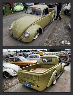 VW pickup very nice! Vw T1 Camper, Volkswagen New Beetle, Volkswagen Vehicles, Vw Classic, Classic Trucks, Kombi Pick Up, Vw Pickup, Kdf Wagen, Automobile