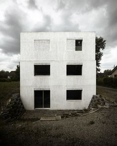 """thisispaper: """"A cubic house on a slope by the Swiss architecture buro HDPF """""""