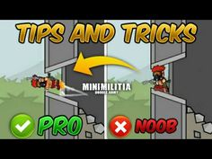 Top 10 Tips & Tricks in Mini Militia that Everyone Should Know (From NOOB TO PRO) Guide - YouTube Anime Websites, Mini, Youtube, Top, Youtubers, Crop Shirt, Shirts, Youtube Movies
