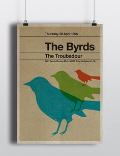 The Byrds miniposter mid century / minimalist by TheStereoTypist, £10.00