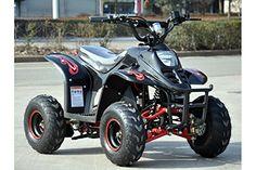 Hawkmoto FX-800W Electric Field Style Quad Bike – Red