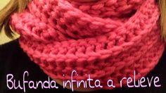 Hola a todos!.....en este tutorial os enseño como tejer facilmente una bufanda (y rapida) a crochet infinita en relieve .He utilizado 2 puntos básicos,el p.a...
