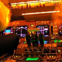Boeing 747 preflight.